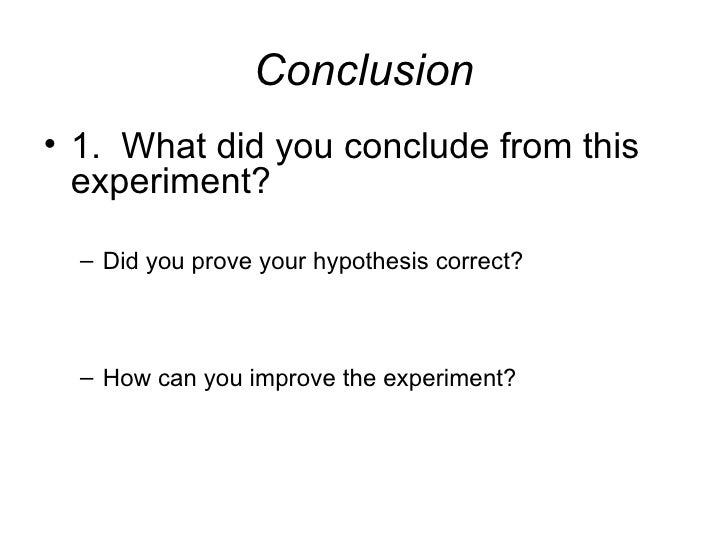 experiment outline example