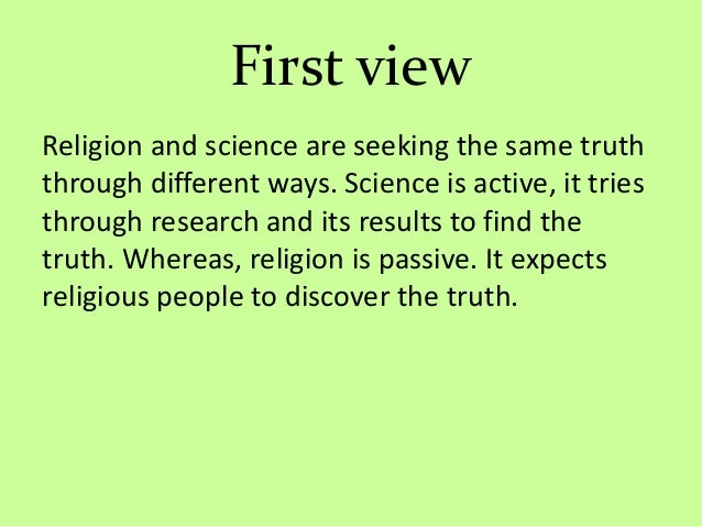 are science and religion one and the same Just like science and religion, myth explains the world and its creation  myth and explanations for creation search the site go  if we look at one of popular .