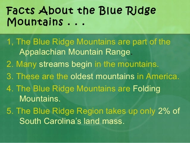 who named the blue ridge mountains - photo#33