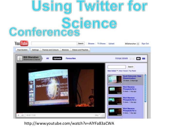 Using Twitter for Science<br />Aided by: Feed aggregators/Dashboards<br />