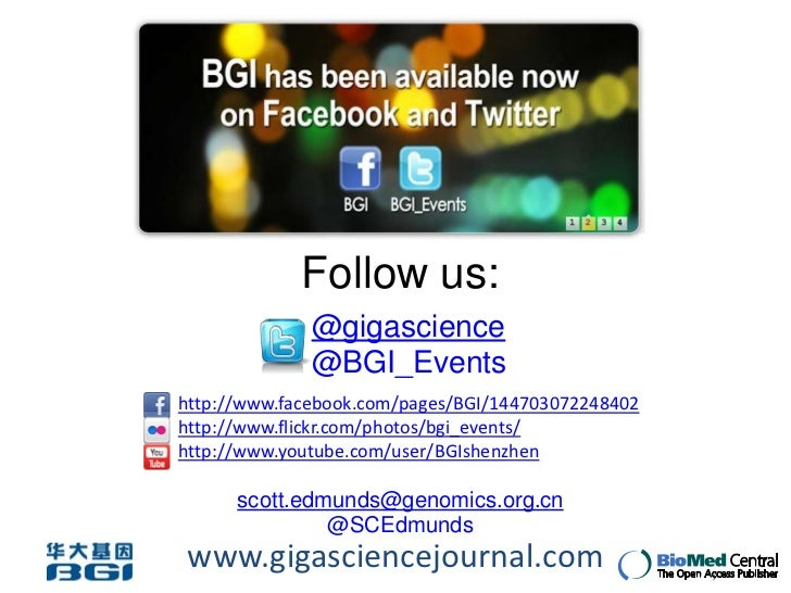 BGI training lecture: Scott Edmunds - Science 2.0, why new developments on the web will make you a better scientist!