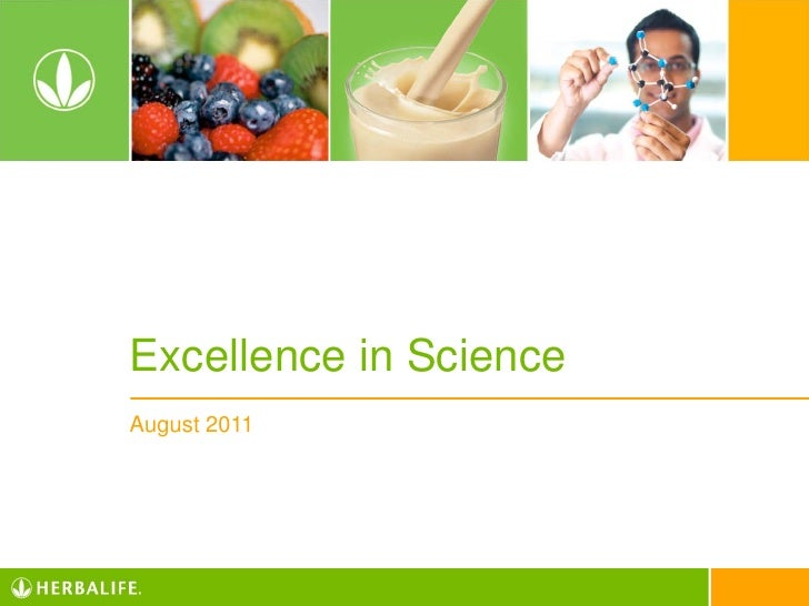 Excellence in ScienceAugust 2011