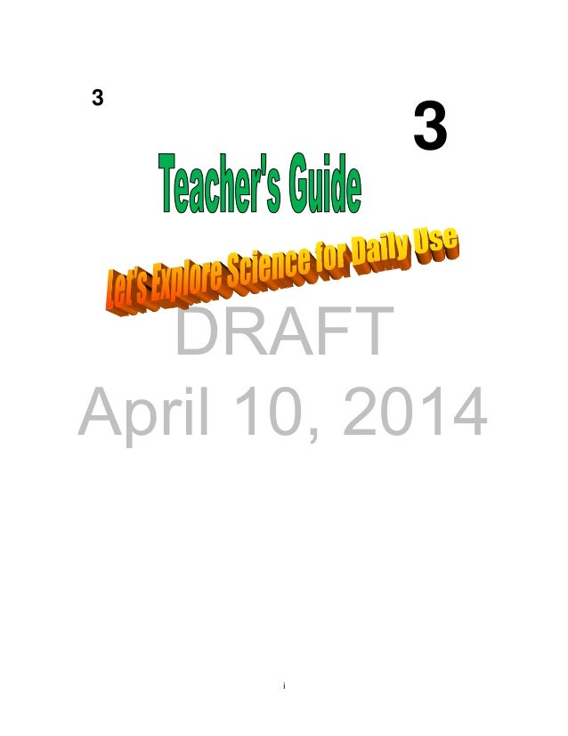 DRAFT April 10, 2014 i 3 3