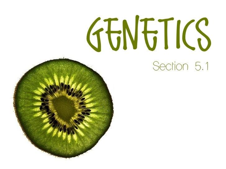 genetics    Section 5.1
