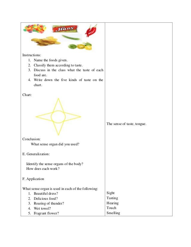 lesson plan in science iii Malhacan elementary school city of meycauayan, bulacan lesson plan in science i objectives identifies the senses associated with the sense organs values: appreciation of the value of.