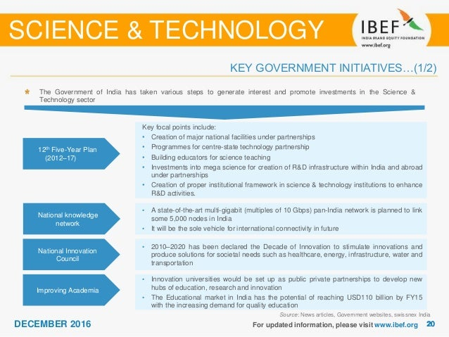 Science and Technology Sectore Report - December 2016