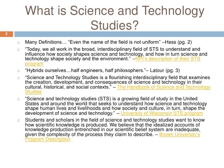 science and technology and society-essay