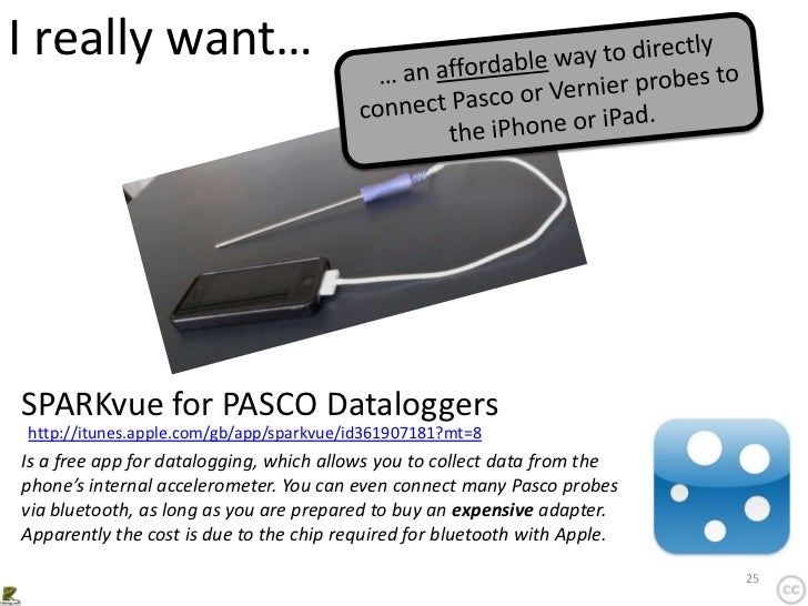 I really want…SPARKvue for PASCO Dataloggershttp://itunes.apple.com/gb/app/sparkvue/id361907181?mt=8Is a free app for data...
