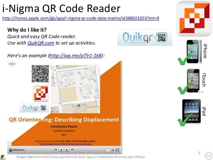 i-Nigma QR Code Readerhttp://itunes.apple.com/gb/app/i-nigma-qr-code-data-matrix/id388923203?mt=8  Why do I like it?  Quic...