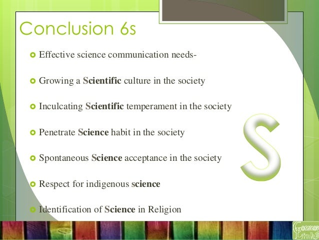 how to develop good scientific communication