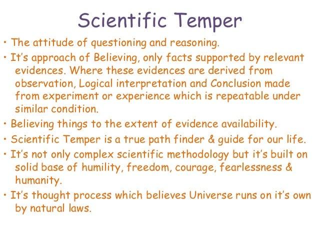 scientific temper meaning in telugu