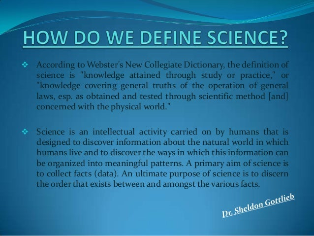 science definition
