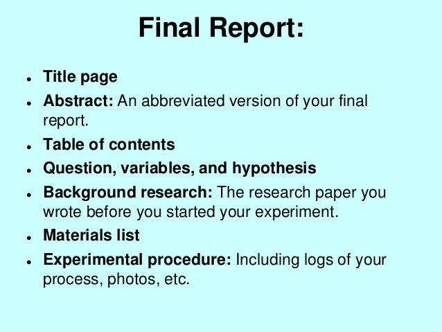 science fair project research paper introduction Research paper for science fair project quizlet september 30, 2018 | no comments  how to write a graduate school essay videos coeur de pirate francis explication essay censorship essay introduction research papers on employee retention wheels college essay basketball player.