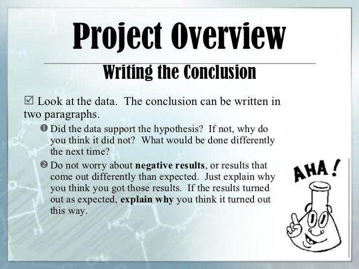how do you write a science fair conclusion