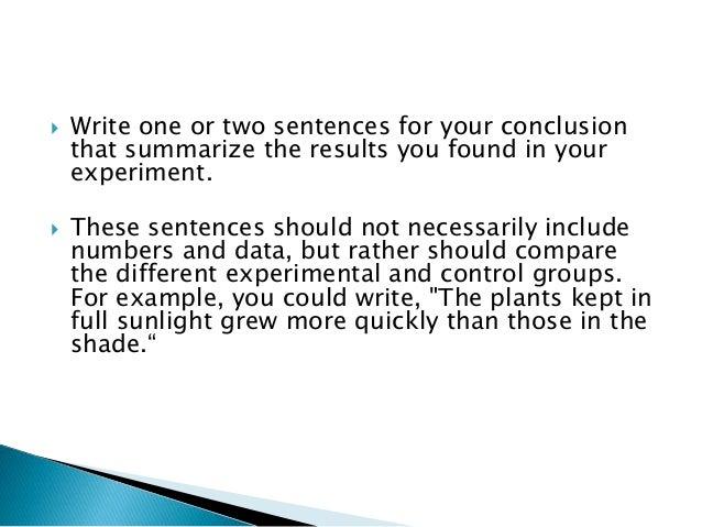 hypothesis conclusion