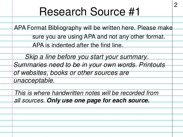 what is a bibliography for a science project