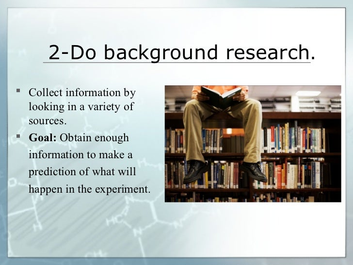 what is the background research in a science project