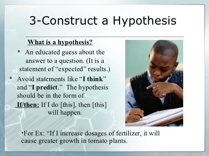 how to write a hypothesis for science fair projects