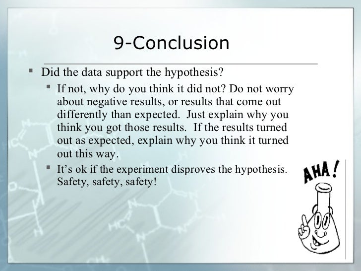 results and conclusion paper Your conclusions summarize how your results support or contradict your original hypothesis: summarize your science fair project results in a few sentences and use this summary to support your conclusion include key facts from your background research to help explain your results as needed.