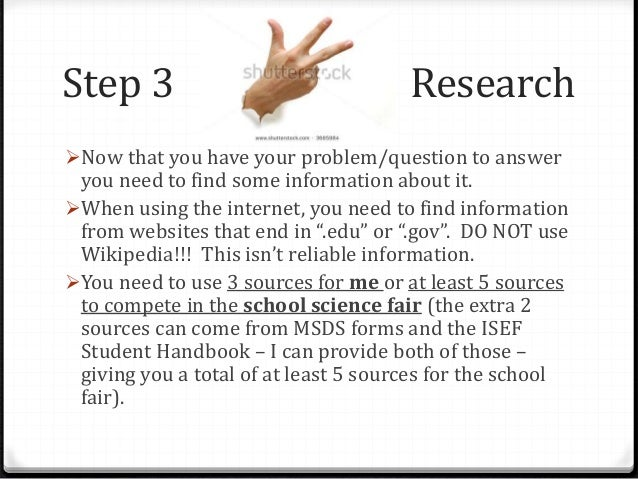 science fair research papers