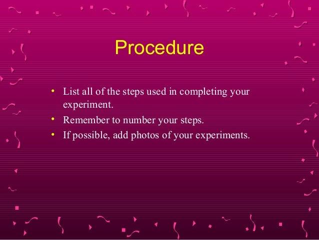 science fair training slides