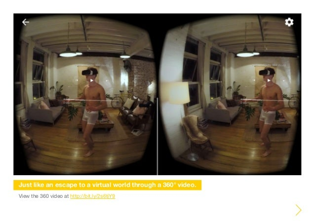 View the 360 video at http://bit.ly/2s6tjY9 Just like an escape to a virtual world through a 360° video.