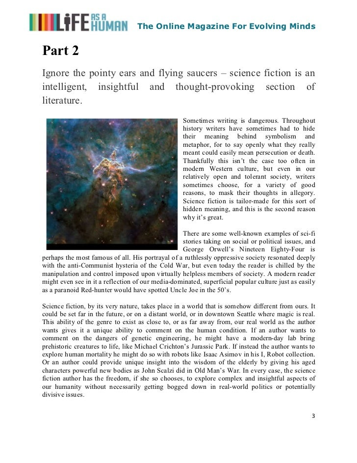 Science fiction and why it's great (by Bennett R. Coles) Slide 3