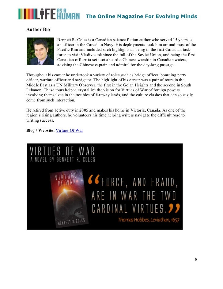 The Online Magazine For Evolving MindsAuthor Bio                  Bennett R. Coles is a Canadian science fiction author wh...