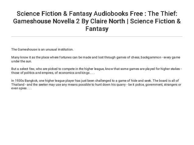 Science Fiction & Fantasy Audiobooks Free : The Thief