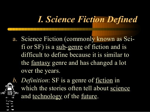 Science fiction ppt 2013