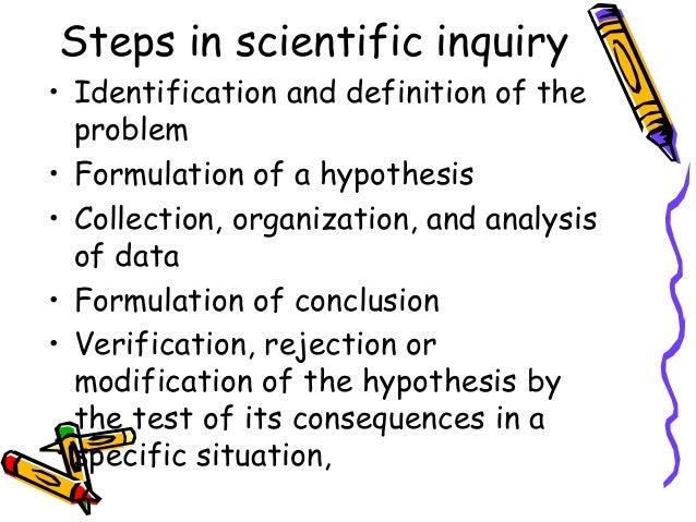 scientific method definition inquiry science steps problem