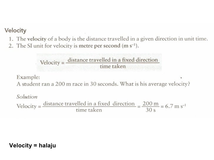 Science form 5 motion