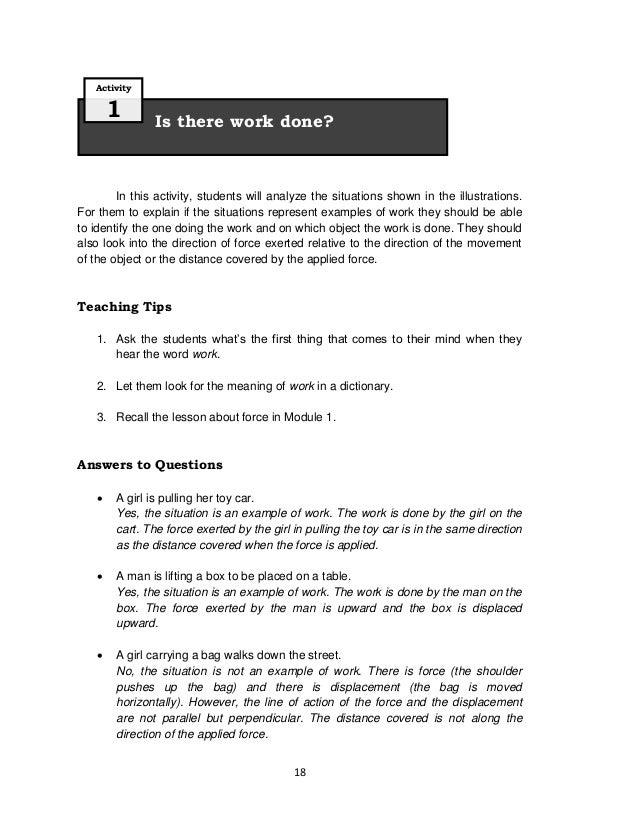 18In this activity, students will analyze the situations shown in the illustrations.For them to explain if the situations ...