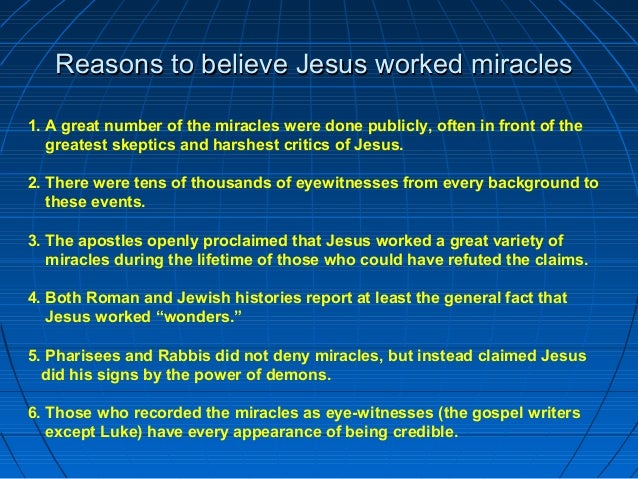 Image result for why did jesus do miracles