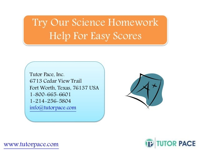 Homework help for science