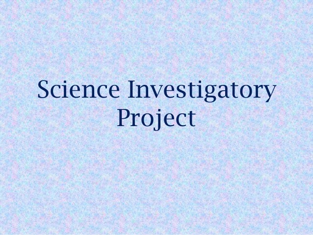 science investigatory research paper