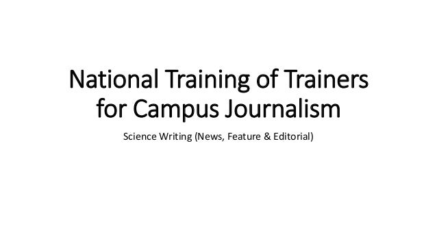 Science journalism workshop