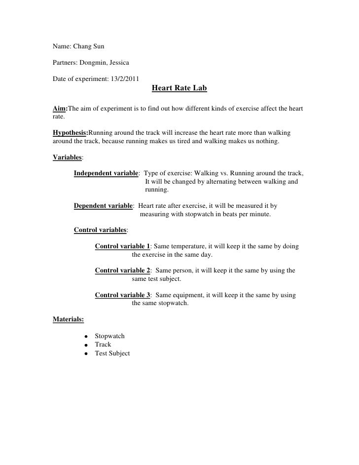 how to do a lab report