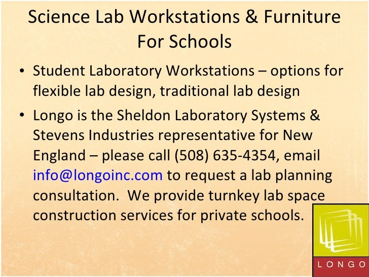Science Lab Workstations & Furniture For Schools <ul><li>Student Laboratory Workstations – options for flexible lab design...