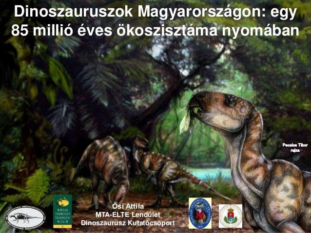 Ősi Attila MTA-ELTE Lendület Dinoszaurusz Kutatócsoport Dinoszauruszok Magyarországon: egy 85 millió éves ökoszisztáma nyo...