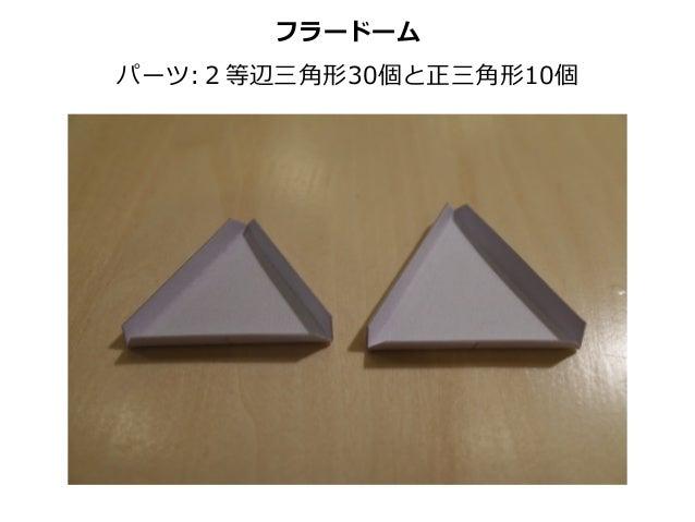 フラードーム パーツ:2等辺三⾓角形30個と正三⾓角形10個