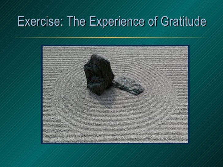 Exercise: The Experience of Gratitude