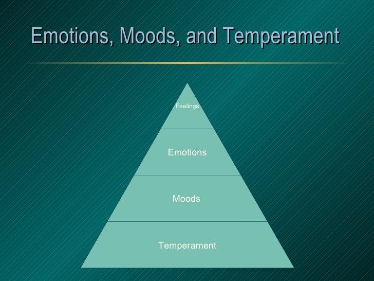Emotions, Moods, and Temperament  Feelings Emotions Moods   Temperament