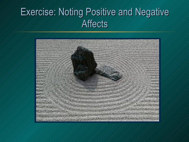 Exercise: Noting Positive and Negative Affects