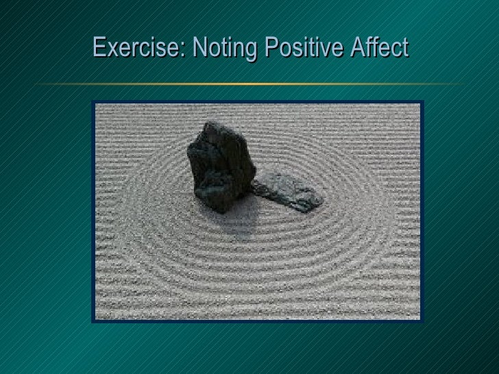 Exercise: Noting Positive Affect