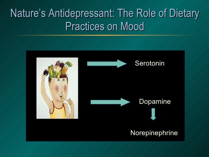 Nature's Antidepressant: The Role of Dietary Practices on Mood Tryptophan Tyrosine Serotonin Dopamine Norepinephrine