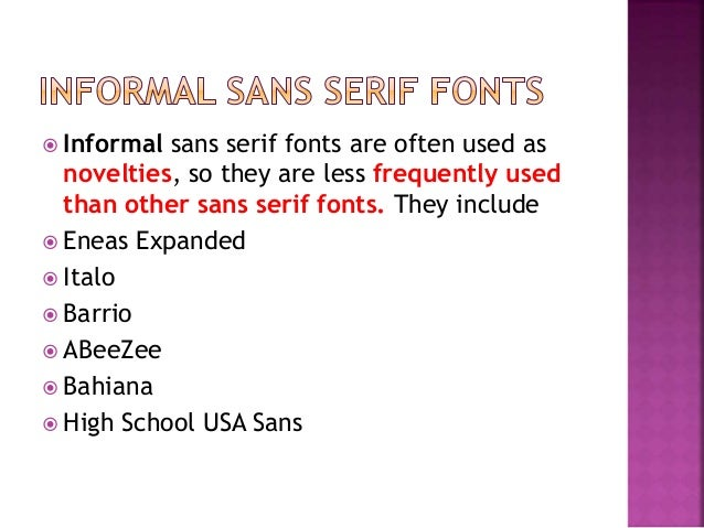 Science of font