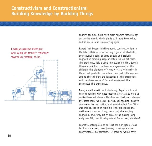 Constructivism and Constructionism: Building Knowledge by Building Things 10 enables them to build even more sophisticated...