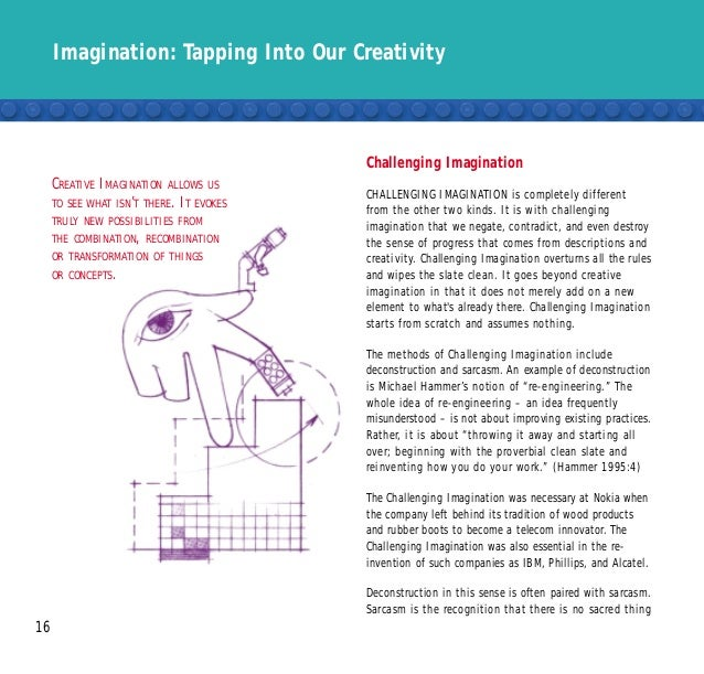 Imagination: Tapping Into Our Creativity 16 Challenging Imagination CHALLENGING IMAGINATION is completely different from t...