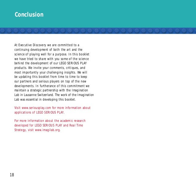 Conclusion 18 At Executive Discovery we are committed to a continuing development of both the art and the science of playi...
